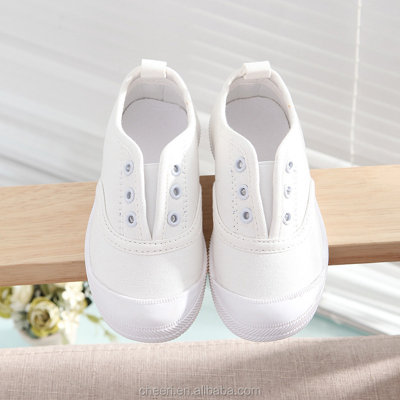 2017 wholesale beautiful leisure cheap children canvas shoe rubber sole kid blank canvas shoes