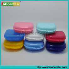 Dental supply low price plastic denture box/dental retainer