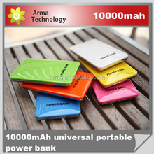 10000mAh Power Bank Dual USB Charger 4 Connector Candy Portable External Battery For All Mobile Phone