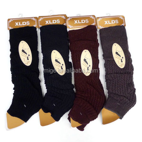 Fashion Lady Leg Warmers Winter Knitted Wool Leg Warmer <strong>W007</strong>