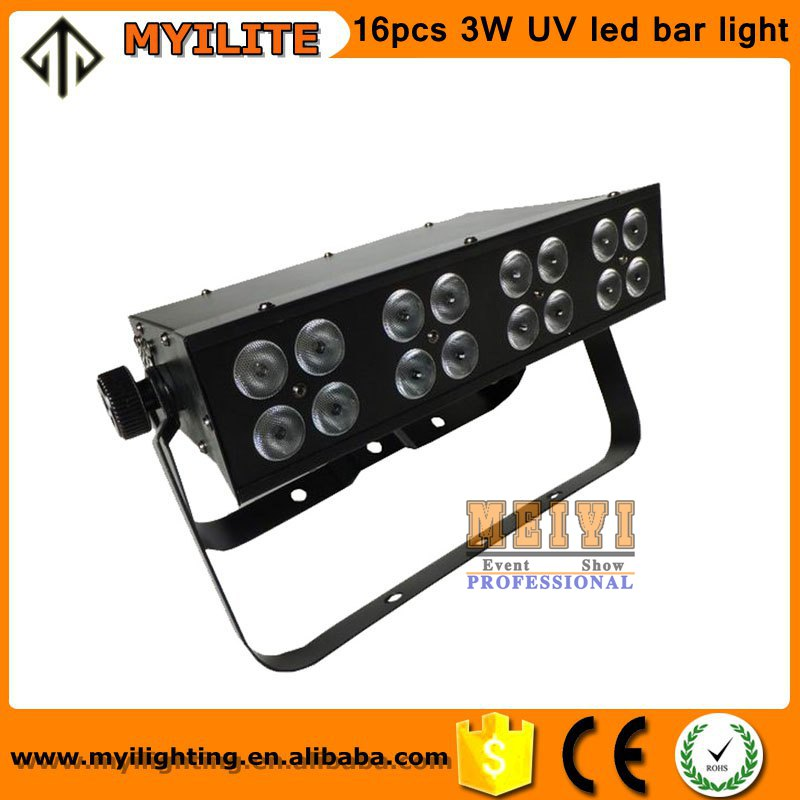 dj equipment stage light 16pcs 3W UV led bar