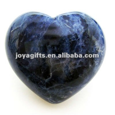 Puffy Heart shaped sodalite stone35MM