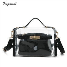 Clear Crossbody Messenger Shoulder Bag Travel Transparent Purse For Women Work Bags Composite Bag Strap Adjustable