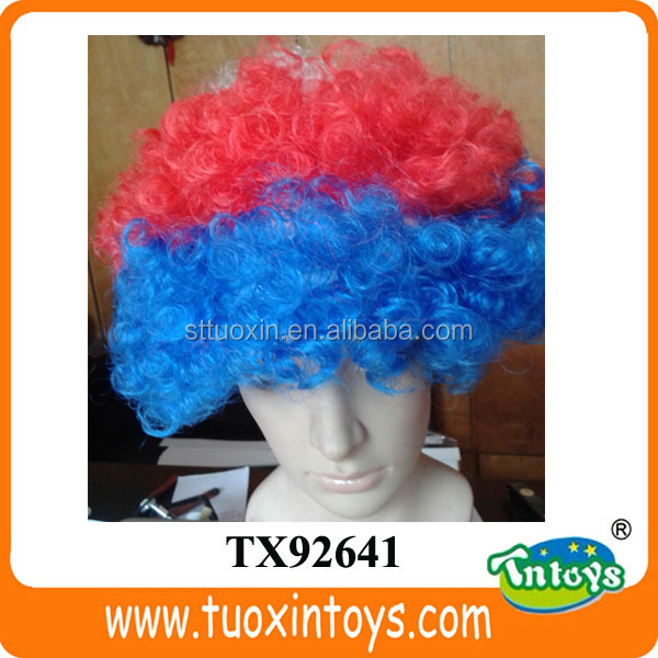 100g color wig, multi crazy color wigs