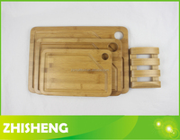CB-W010S Bamboo cutting boad set, 5pcs bamboo chopping board set
