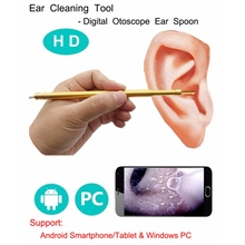 Ear Cleaning Endoscope 3 in1 USB HD Visual Ear Spoon 5.5mm Mini Camera Android PC Ear pick Otoscope Borescope Tool