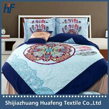40s 133* 72 ancient culture design adult bedding set Made in China , reactive printed microfiber bed linen