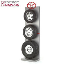 Toyota Tyre Display Racks Metal Heavy Duty Warehouse Car Accessories Tire Display Shelf