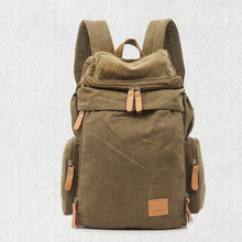 New Vintage Backpack Large Capacity Men Male Canvas Top Quality Travel Duffle Luggage Bag
