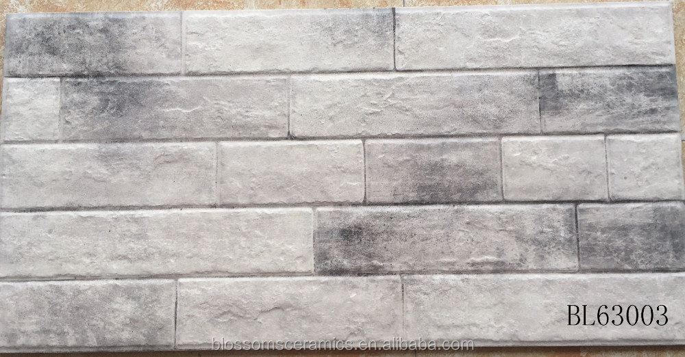 3D ink jet rough brick outside wall decorative tiles (300x600mm)
