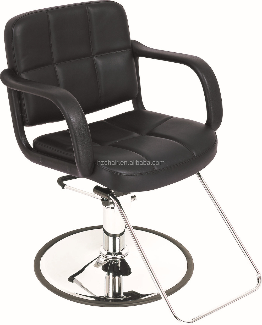 Black salon chairs - 2015 Classic Portable Hairdressing Chairs With Hand Shaped Chairs Popular Black Chairs