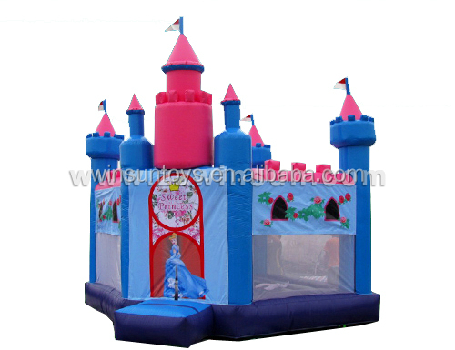 Inflatable Princess Bouncer Slide Combo,Commercial Use Bouncy Castle Slide,Bounce House Slide for Rental