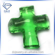Cross Shape Clear Green Glass Stone Price Of 1 Carat Diamond