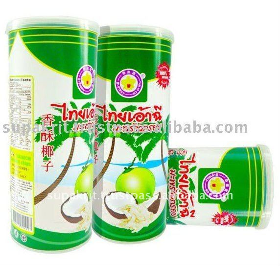 Delicious Coconut Chip in tin can ( 150 g ) by Thai Ao Chi Fruits