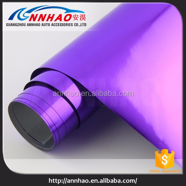 High Quality 1.52*20m Self Adhesive Vinyl Roll for Car Body Wrapping Stretchable Chrome Car Mirror Film