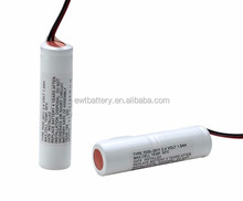 AA 9.6V 700mAh Ni-CD rechargeable battery pack with connector