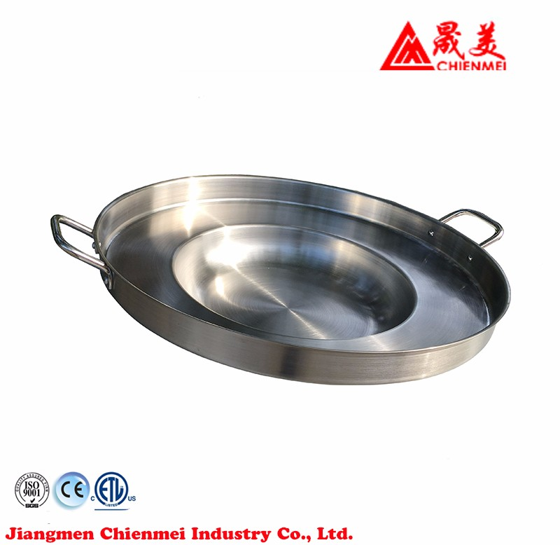 Outdoor Camping stainless steel concave comal cookware set