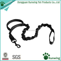 Nylon Heavy Duty Short Dog Training Leash Bungee Traffic Leads Leashes for Large Dogs Walking Running Hiking Black