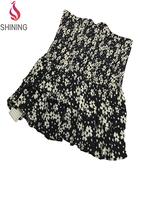 Latest fashion dress design latest casual dress designs doll collar slim package hip skirt dress girls stripe ruffle short sleev