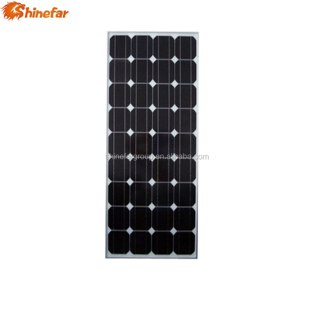 China manufacturer 17.5V Maximum power voltage 80w mono solar panel cheap price