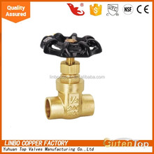 LB-GutenTop 1/2 inch low lead pressure reducing brass stem gate valve with 200 wog for gas