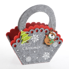 Felt Personalized Decorate Drawstring Gift Basket Bags Christmas Ornaments