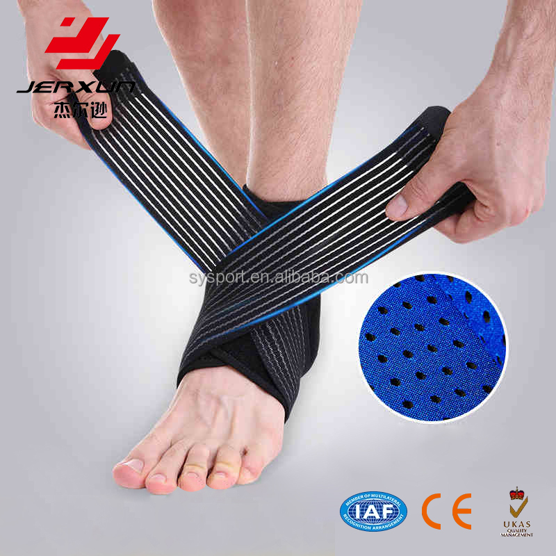 Adjustable compression bandage movement ankle support