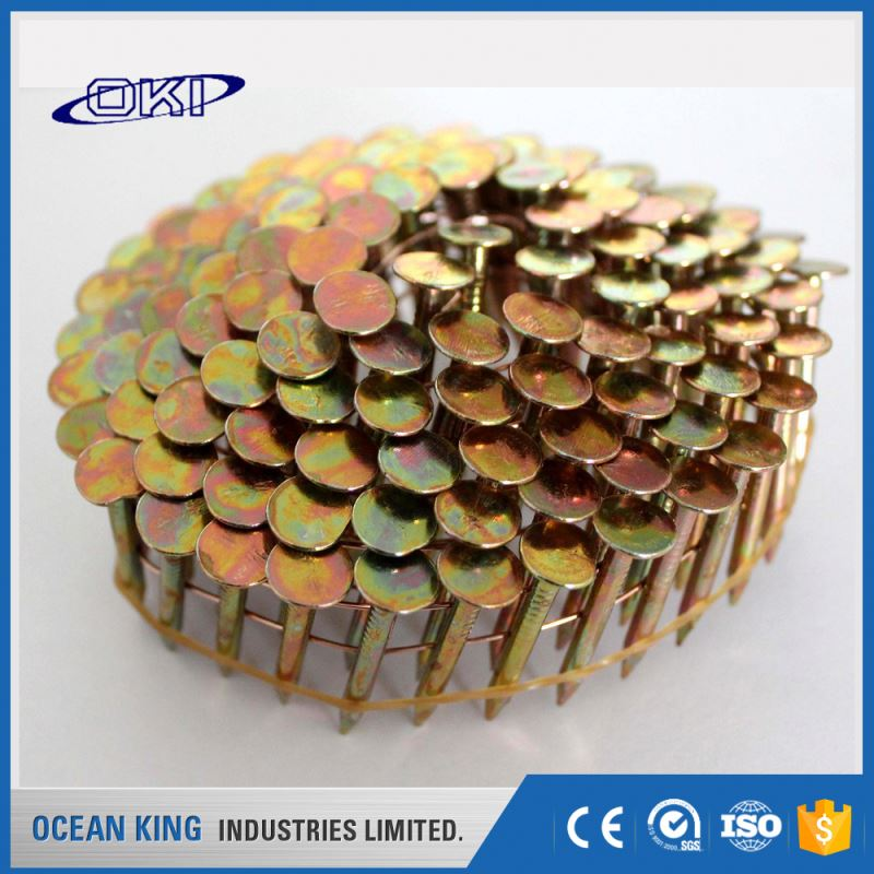 decorative building ring shank flat head pallet stainless steel coil nail