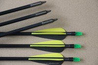 2015 hottest selling Archery Arrow hunter Nocks Fletched Arrows Fiberglass Target Practice Hunting