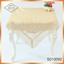 High quality Modern Design Polyester Lace Table cloths 90*90