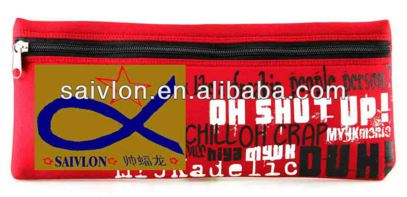 School Personalised sublimation neoprene pencil pouch/bags/cases