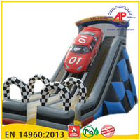 Airpark hotsale inflatable slide,commercial giant inflatables water slides,double lanes inflatable water slide