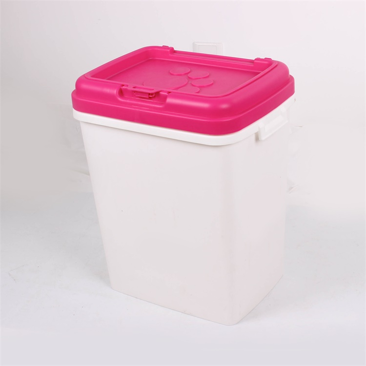 H513 Item 15KG LARGE DOG Food container with Scoop FOR PET Feeder Plastic Tightly lid Storage Bin