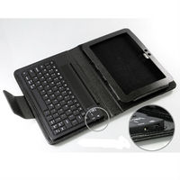 leather case with keyboard for 9.7 inch tablet pc