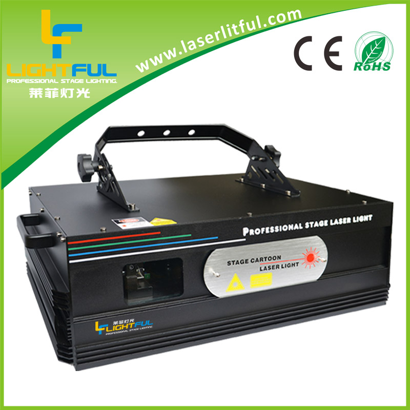 3W RGB full color animation laser light/ DMX512 animation laser for part/celebration/disco/DJ/event