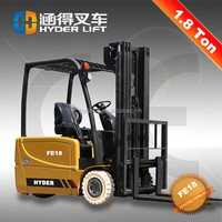Best sale 3 wheel Electric Forklift 1.8tons truck for sale