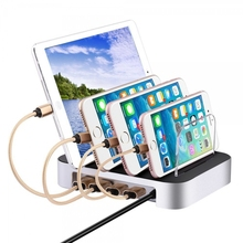 Detachable Universal Multi-Port USB Charging Station 24W 4 Port Micro USB Home Charging Dock