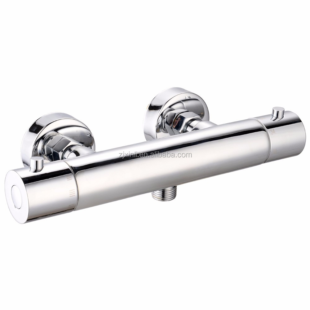 High Quality & Luxury Chrome Finish and Wall Mounted Brass Thermostat Shower Mixer X9071S2