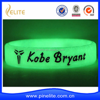 cheap glow in the dark silicoe bracelet, glow rubber band
