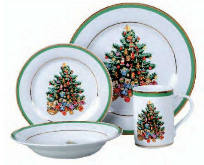 CHRISTMAS MORNING TREE GATHERING DINNERWARE SET