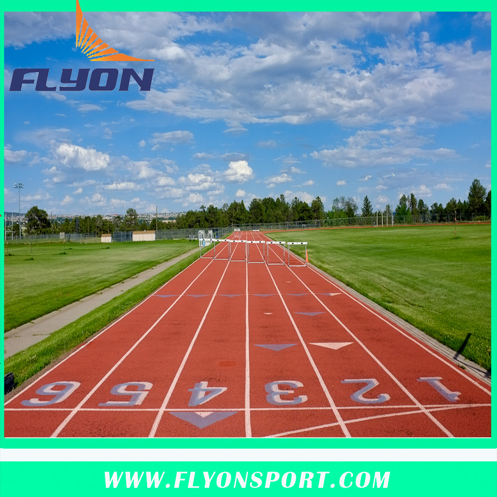 Athletic track for outdoor sport flooring artificial flooring surfaces and turf