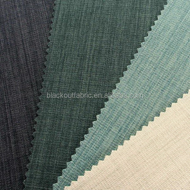 Two Tone Cationic Dyeing Blackout Fabric 3 Pass Acrylic Coating Blackout Fabric