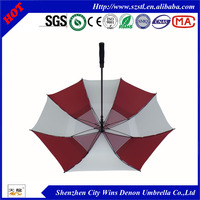 "High quality 30""x8ribs fiberglass ribs and shaft OEM advertising golf umbrella with net inside from China professional Supplier"