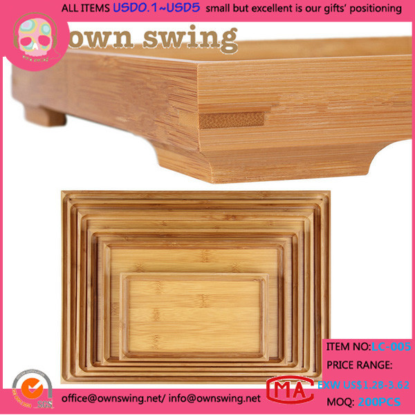 Multiple size custom environmental rectangular bamboo wooden tray/Vintage Wooden Serving Tray/Home Basics Serving Tray