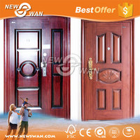 Steel Wood Armored Security Door / Luxury villa Entrance Steel Wooden Door
