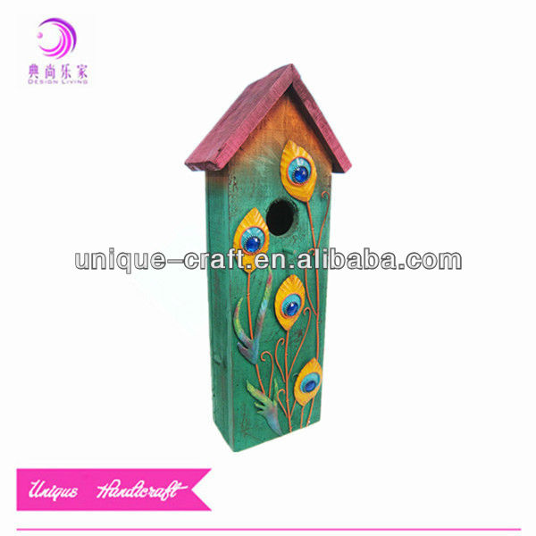 Garden metal small wood crafts bird house
