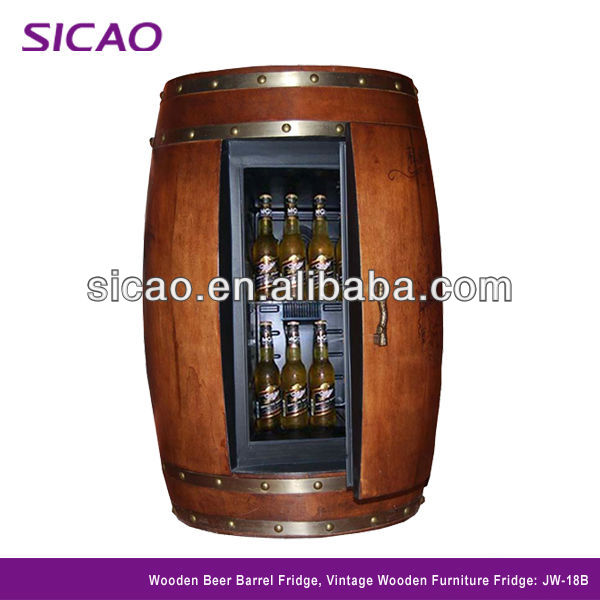 Wood Wine Barrel Refrigerator Furniture, Electric Barrel Cooler, wine barrel with cooling