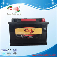 rechargeable battery BCI 12V65AH maintenance free auto battery