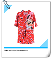 Hot Sale Red Minnie Children Sleepwear Set Girls Pajamas 002
