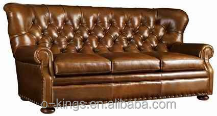 Chesterfield Leather Sofa/ leather lounge sofa/ chesterfield sofa for hotel